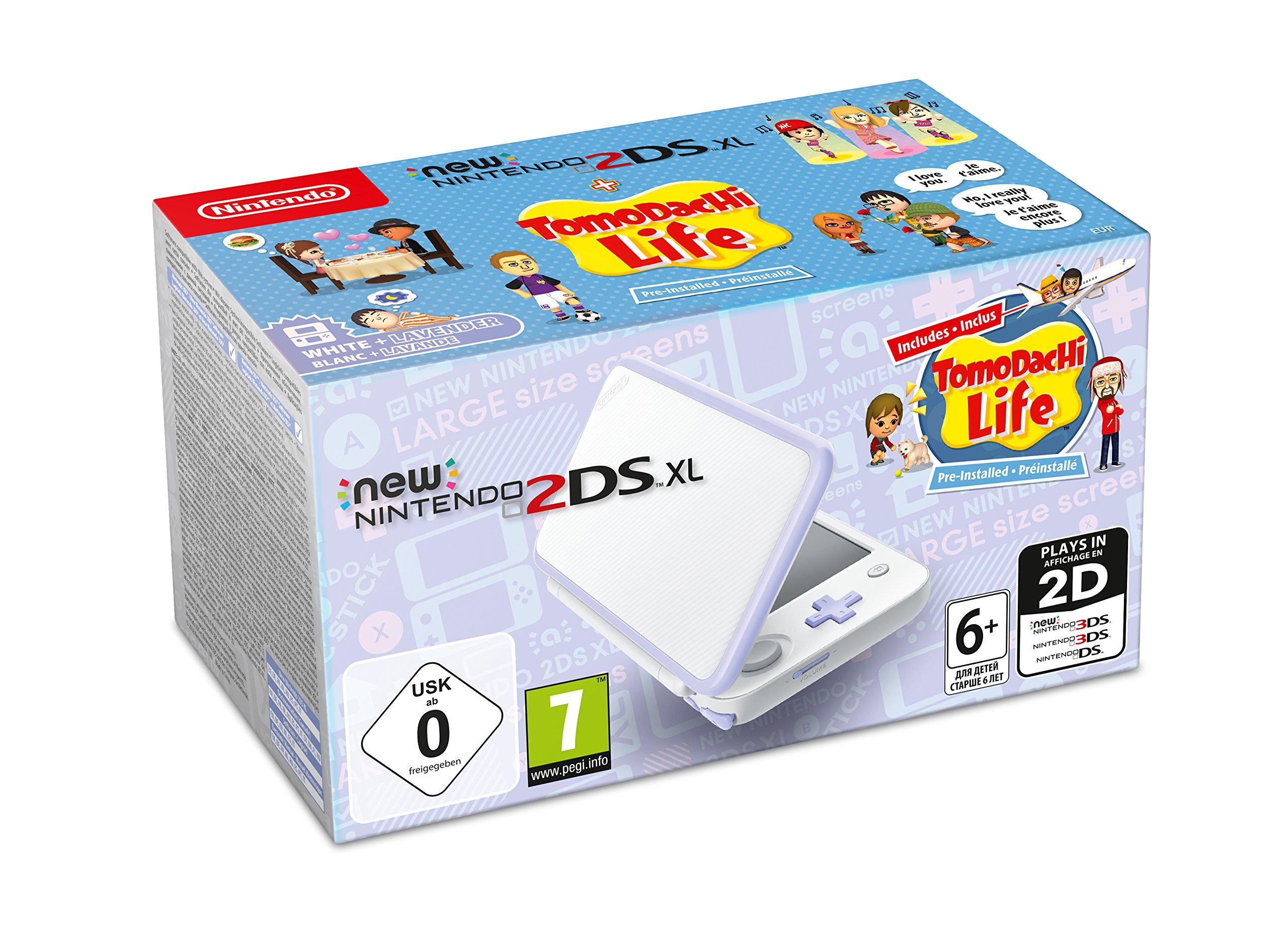 New Nintendo 2DS XL - Consola Lavanda + Tomodachi Life (Preinstalado): Nintendo: Amazon.es: Videojuegos
