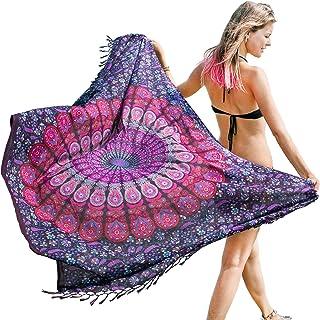 Bohemian Sarong, Mandala Pareo, Bikini Swimsuit Cover Up, Beach Blanket, Wrap
