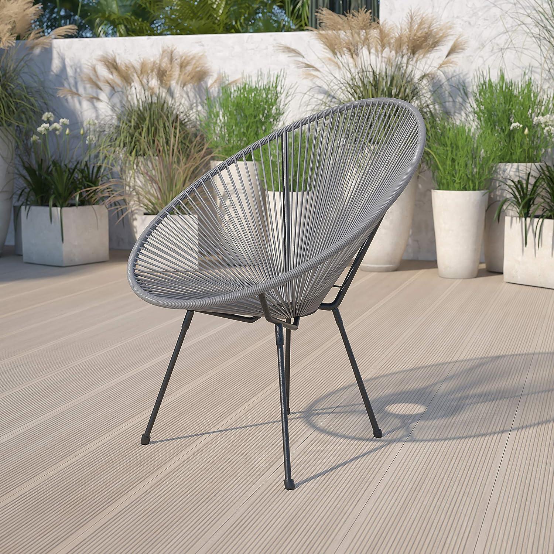 Flash Furniture Max 84% OFF Valencia Oval Comfort Ten Take Series Ratta Grey Milwaukee Mall
