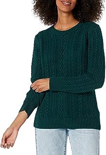 Amazon Essentials Women's Fisherman Cable Long-Sleeve Crewneck Sweater