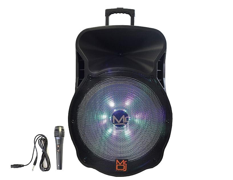 Mr. Dj DJ18BAT 18 Inch 5000W Max Power Speaker with Built-in Bluetooth & Battery, 1
