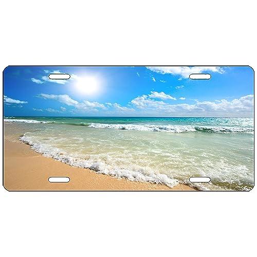 BEACH SUNSET LICENSE PLATE CUSTOM CAR TAG NOVELTY