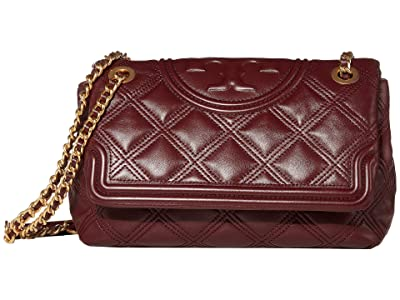 Tory Burch Fleming Soft Convertible Shoulder Bag (Claret) Handbags