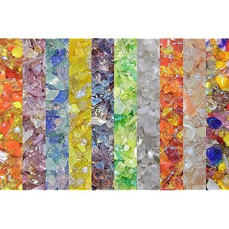 Devardi Glass Lampwork COE 104 Glass Frit Mixed Frit Sampler 10 one ounce samples