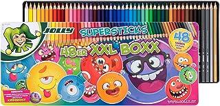 JOLLY Buntstifte Supersticks Kinderfest XXL Box Version 1   Bruchfeste & ungiftige Farbstifte   Made in Austria   48 Stifte
