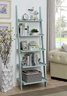 Convenience Concepts American Heritage Bookshelf Ladder, Sea Foam