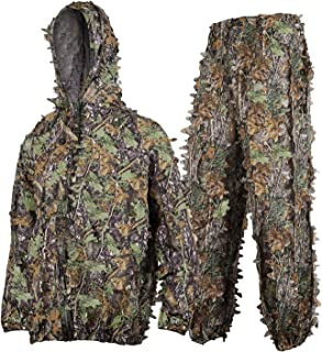 SMZCTYI Ghillie Suit Set, 3D Leafy Woodland Camouflage Clothing, Lightweight & Durable Outdoor Camo