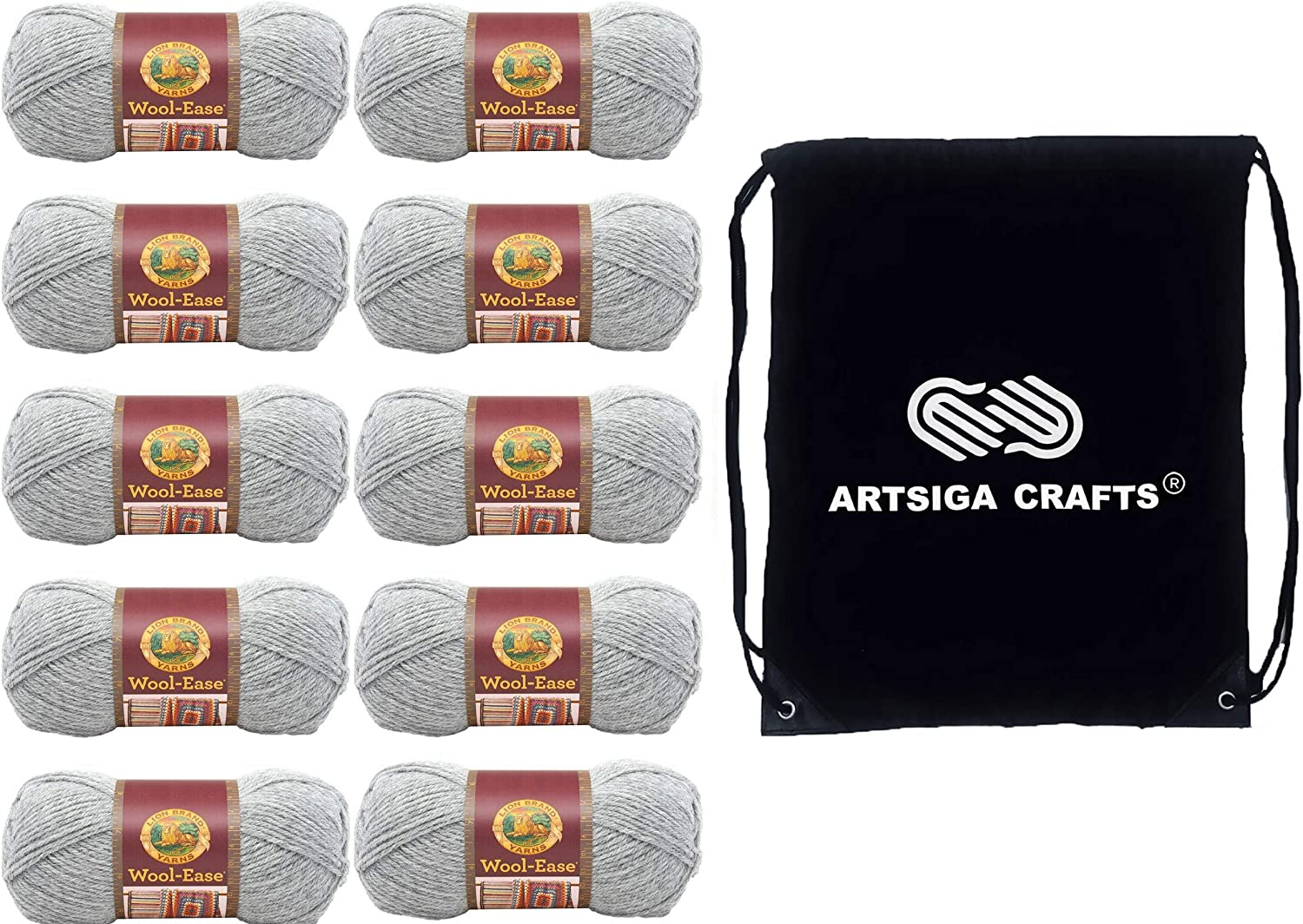 Lion service Brand Knitting Yarn Wool-Ease Grey Heather 10-Skein Max 83% OFF Factory