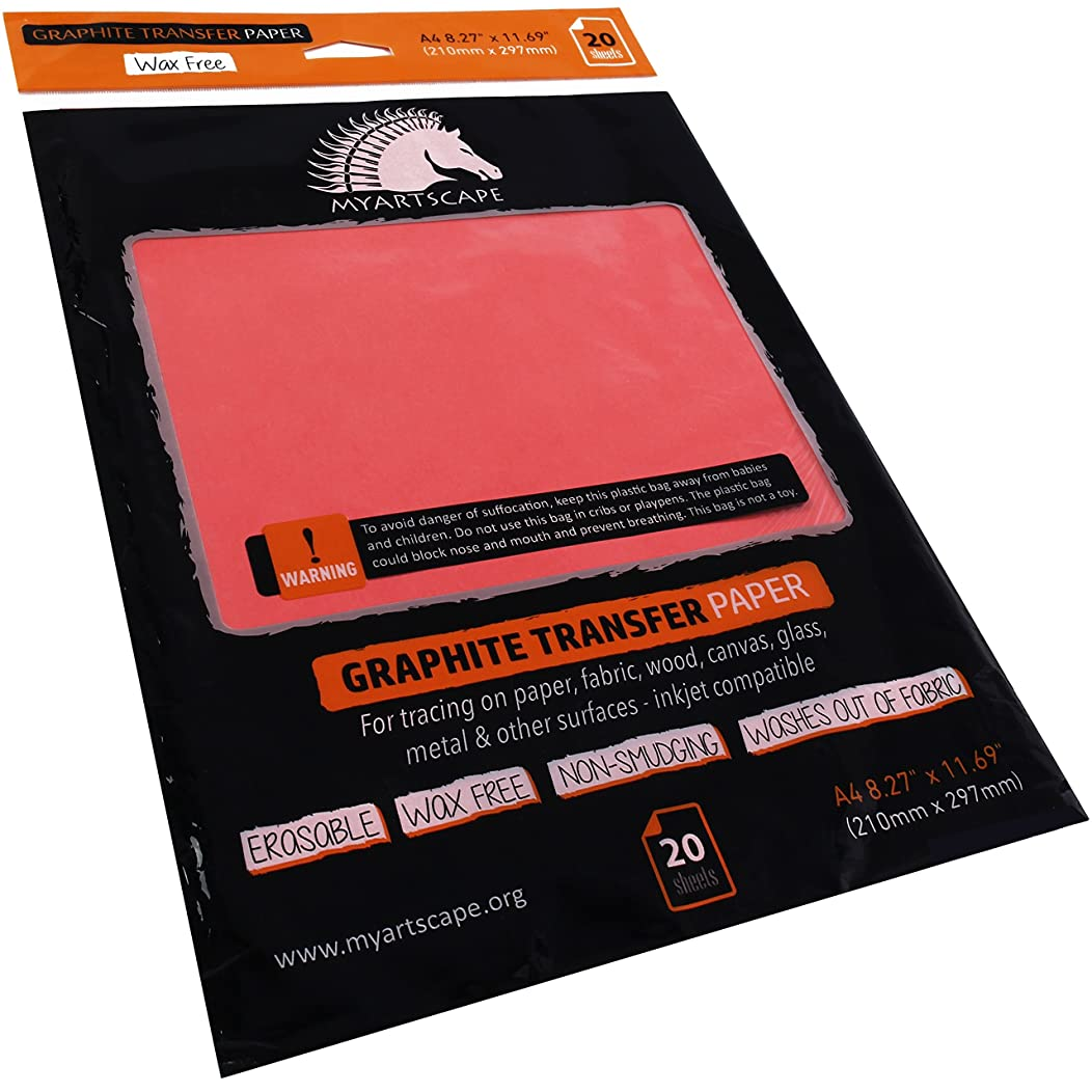 Graphite Paper - Wax Free - Red (20 Sheets)