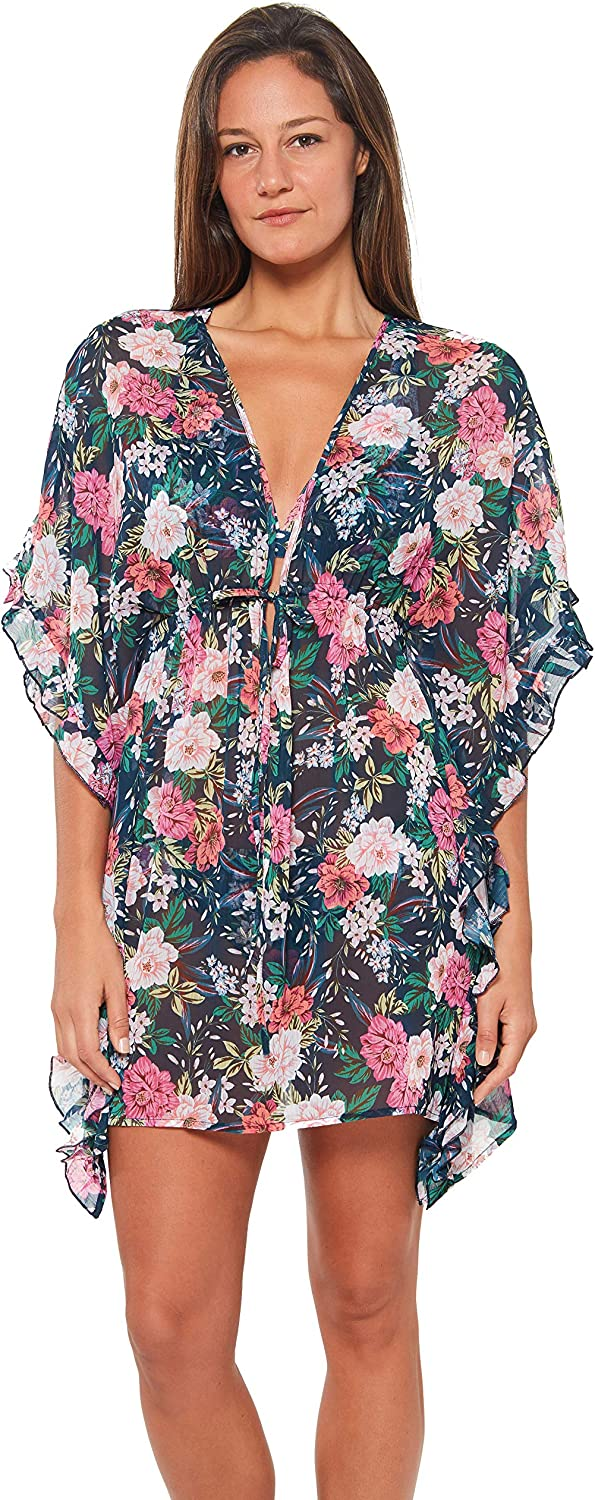 Jessica Simpson Women's Standard Basic Swim Bathing Suit Cover Up Multiple Style Available