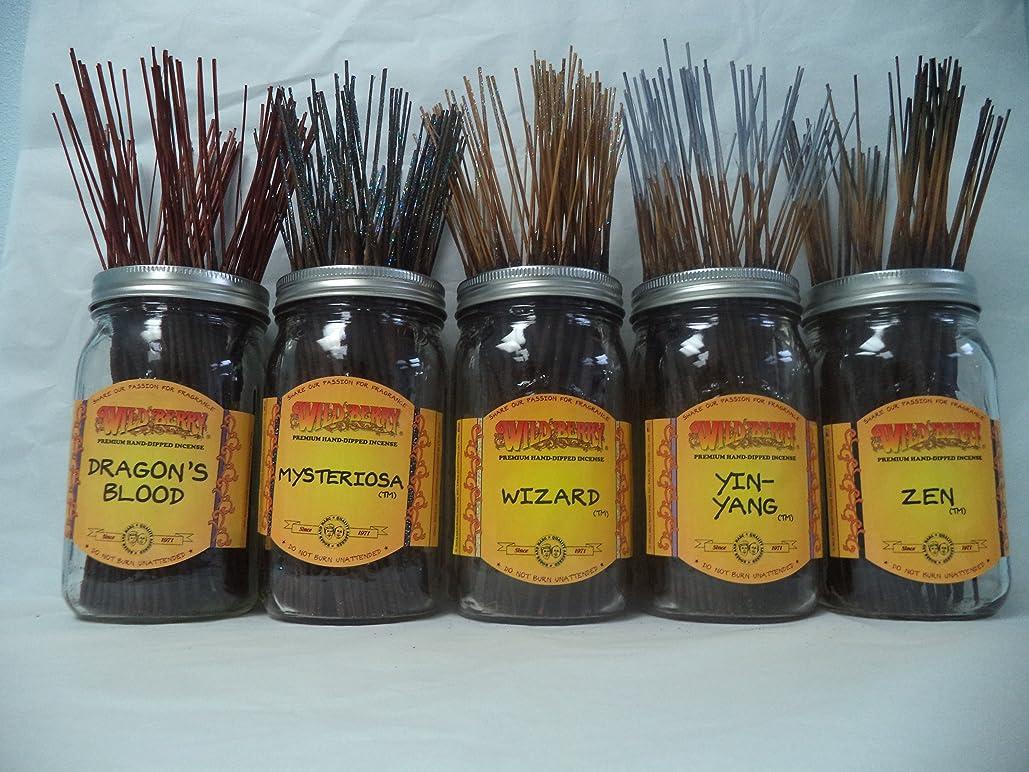 懐疑的遊具ダブルWildberry Incense Sticks Earthy Scentsセット# 3?: 20?Sticks各5の香り、合計100?Sticks 。