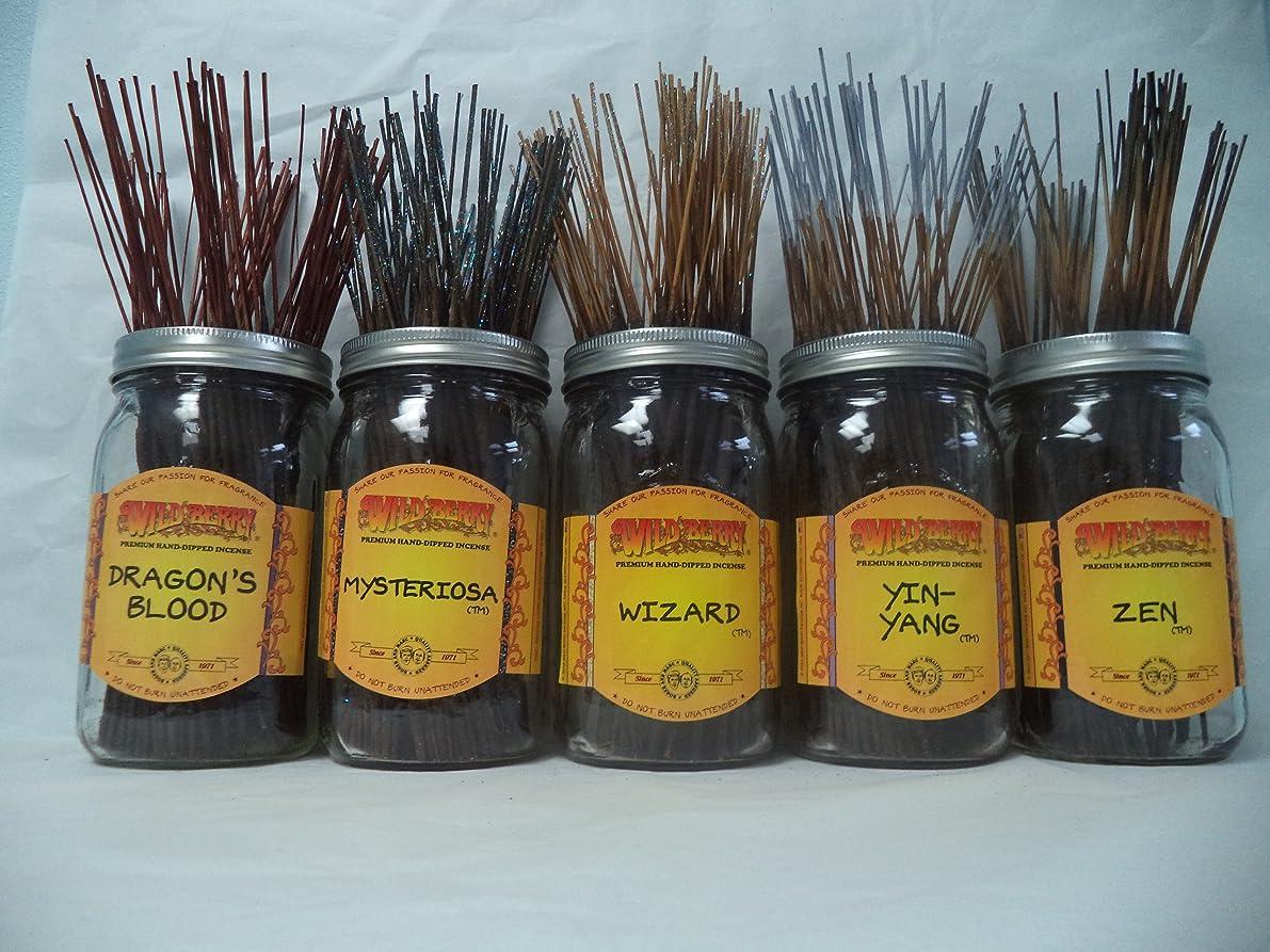 代数クラシカル部分的にWildberry Incense Sticks Earthy Scentsセット# 3?: 20?Sticks各5の香り、合計100?Sticks 。