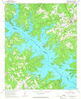 South Carolina Maps - 1964 Plum Branch, SC USGS Historical Topographic Map - Cartography Wall Art - 35in x 44in