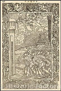 歴史地図 - 中東、中央アジアとインド洋、1568、ルドヴィコ・アリオスト - ビンテージウォールアート 44in x 66in 5192363_4466_RMP