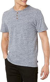 Men's Short Sleeve Linen Henley Shirt