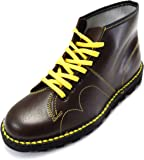 retro mod unisex leather monkey boots in black and oxblood (10, oxbood)