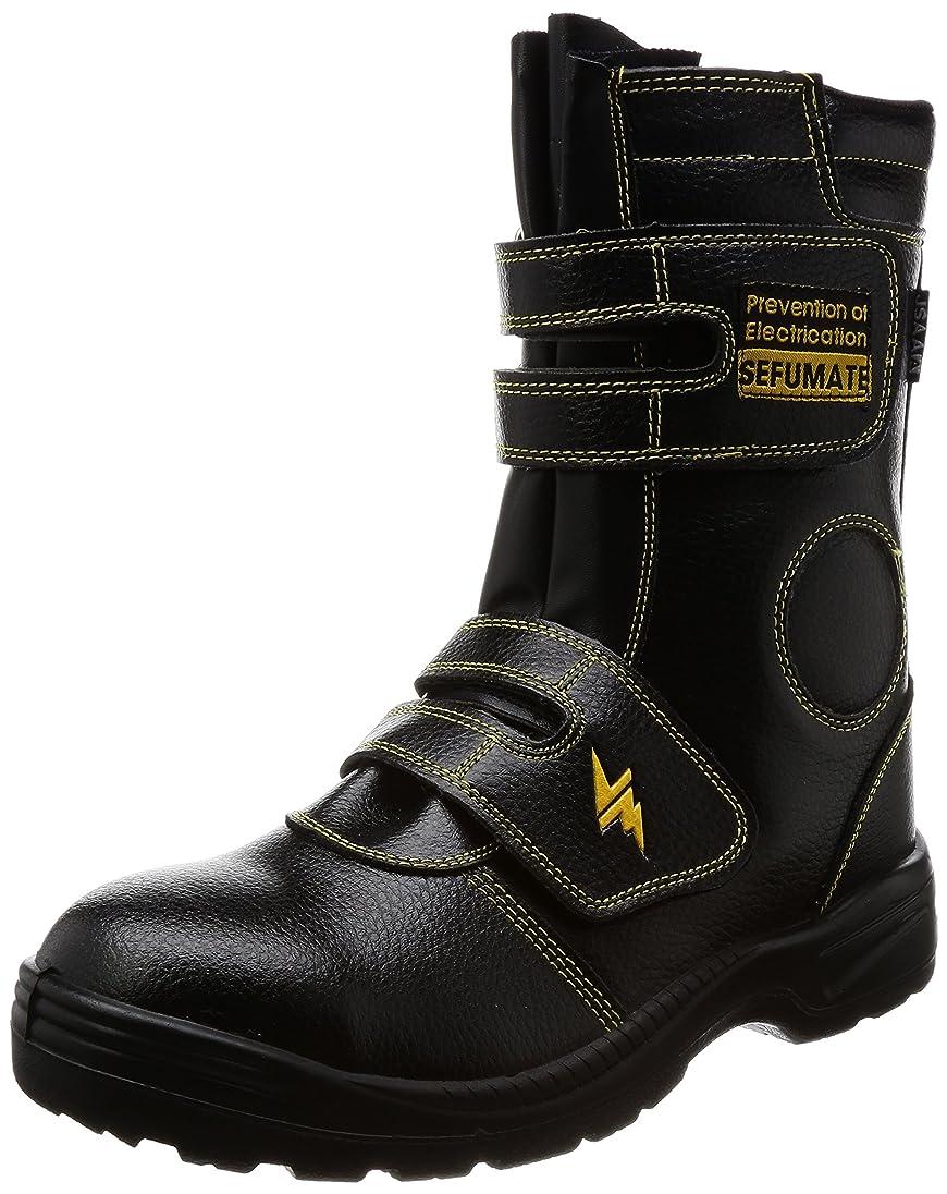 副産物セットするおじいちゃん安全靴 静電気帯電防止 JSAA/A種認定 耐油底 9989 メンズ BLACK