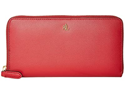 LAUREN Ralph Lauren Zip Continental Wallet (Red) Wallet Handbags
