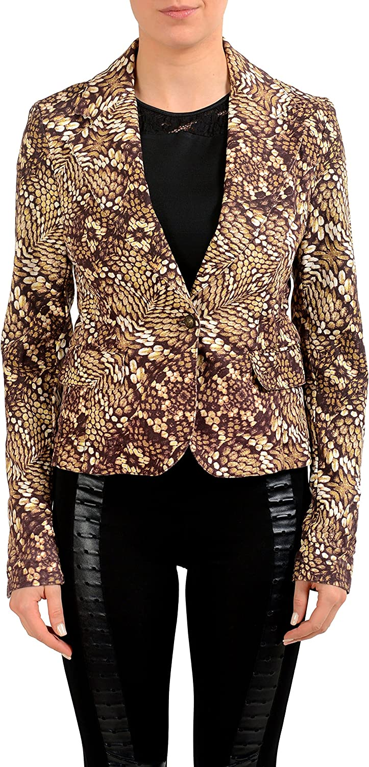 Just Cavalli Multicolor One Button Women's Blazer US S IT 40