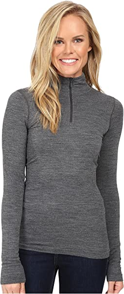 Long Sleeve Go Seamless Wool 1/4 Zip