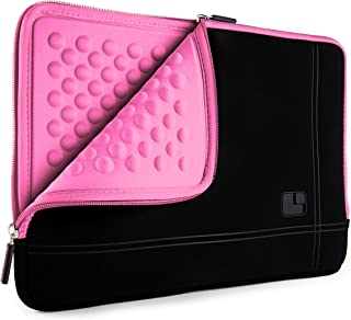 SumacLife Shock Absorbent Pink Black Laptop Sleeve Suitable for Lenovo IdeaPad, ThinkPad, Yoga 13.3inch