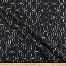 Novogratz Acoustic Embroidery Fabric, Onyx, Fabric By The Yard