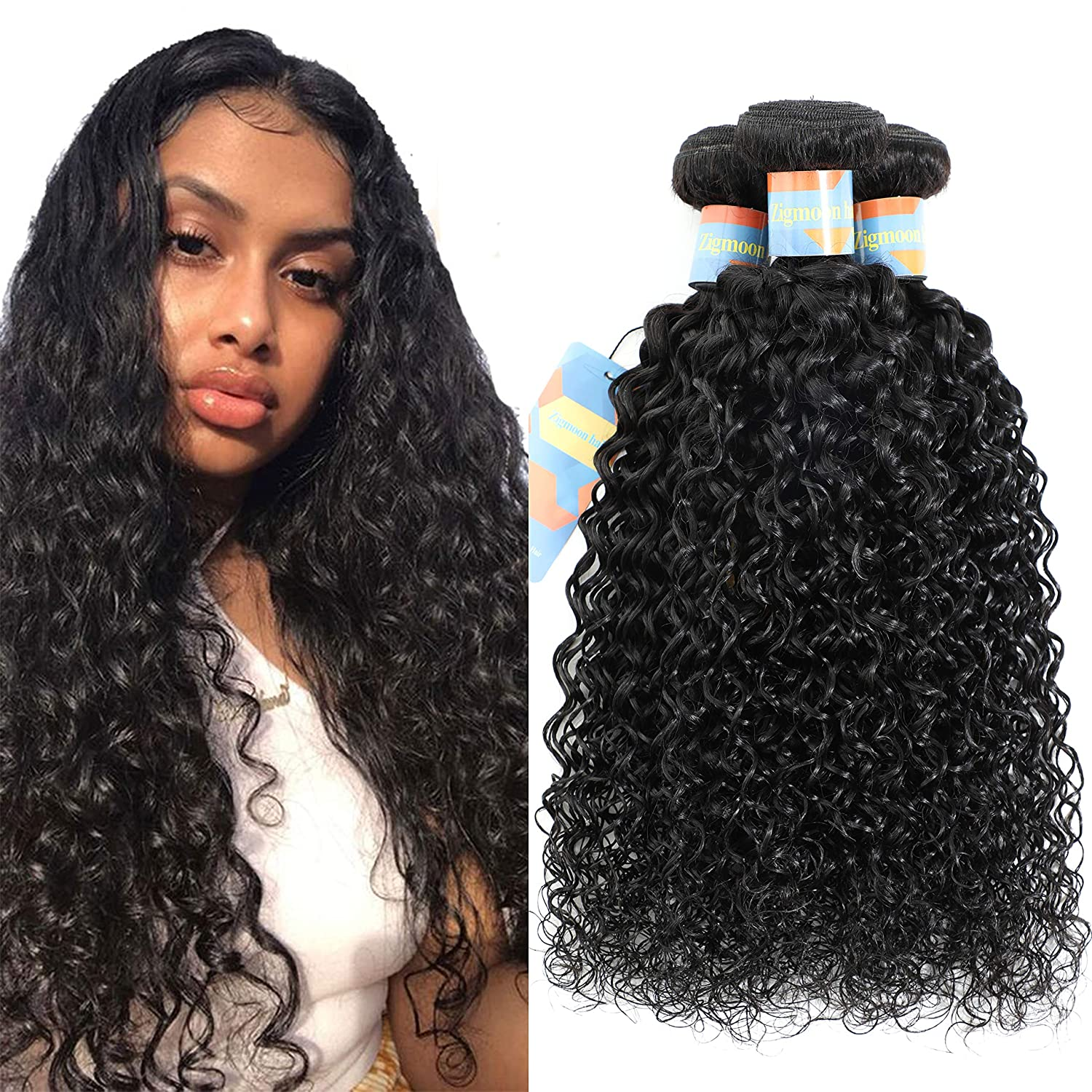 Sales results No. 1 Brazilian Jerry Curly Bundles Los Angeles Mall Hair 12''14''1