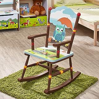 Fantasy Fields Chaise à Bascule en Bois pour décor Chambre Enfant bébé Mixte TD-11738A