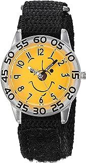 Boys Analog-Quartz Watch with Nylon Strap, Black, 15.5 (Model: WDS000614)