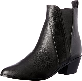 NUDE Women's Rooney Boots, Black Leather