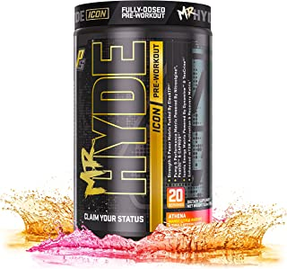 ProSupps® Mr. Hyde® Icon, Intense High Powered Energy, Focus & Pump, Premium Pre-Workout Powder, (20 Servings, Athena Mango Citrus)