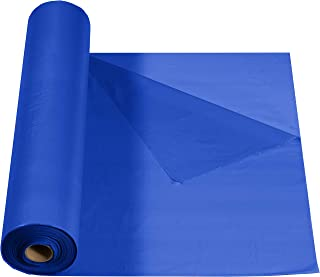 Creative Converting 344942 Touch of Color Folded Plastic Banquet Roll, 250', Cobalt Blue
