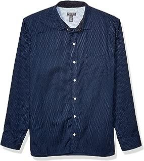 Men's Never Tuck Long Sleeve Button Down Print Shirt