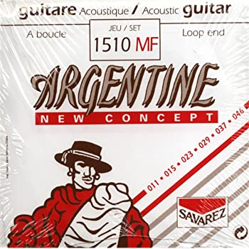 Savarez Jeu de Cordes pour Guitare acoustique 668737 1510MF Loop End (11-46)