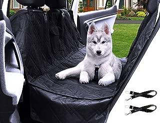 Transpawt Luxury Pet Car Back Seat Cover - Large Waterproof Hammock Style - Black, 57