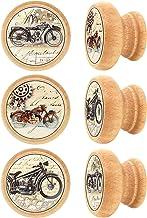 Lashuma meubelknoppen rond, ladeknopen materiaal: hout, stabiele commodegrepen Ø 4 cm, vintage meubelgrepen in set van 6 R...