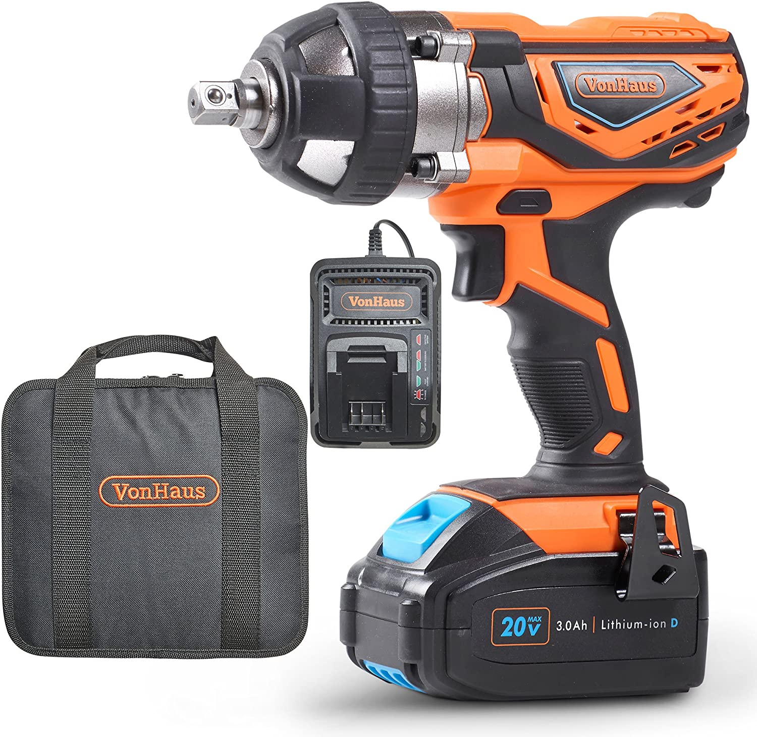 VonHaus 9100012 High Torque Impact Wrench with Variable Speed