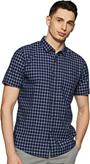 Ruggers Men's Checkered Regular fit Casual Shirt (400018058282_Blue M)