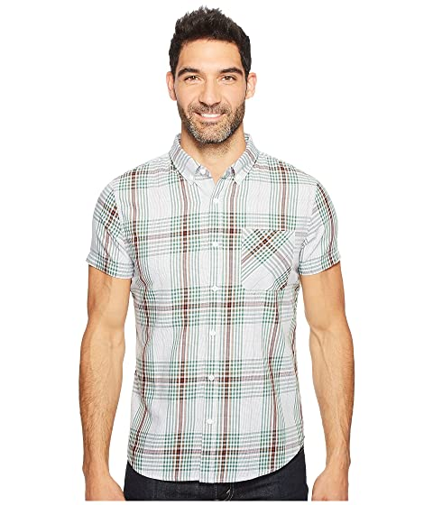 Thunderhead Sleeve Plaid By Short Blue Shirt United Bq0SZA0