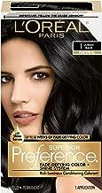 L'Oréal Paris Superior Preference Fade-Defying + Shine Permanent Hair Color, 1.0 Ultimate Black, 1 kit Hair Dye