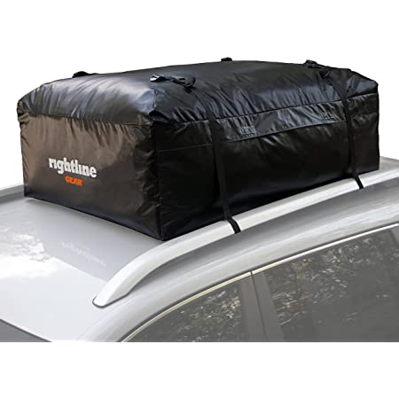 Rightline Gear 100A20 Ace 2 Car Top Carrier, 15 cu ft, Weatherproof, Attaches with or Without Roof Rack