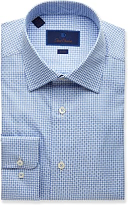 Trim Fit Textured Bold Basket Dress Shirt