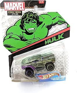Hot Wheels Character Cars Hulk - Marvel Comic Book Styling Series 3/4