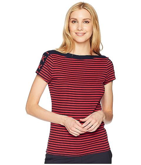 CHAPS Lace-Up-Shoulder Striped Top at 6pm 2b2d5c54c