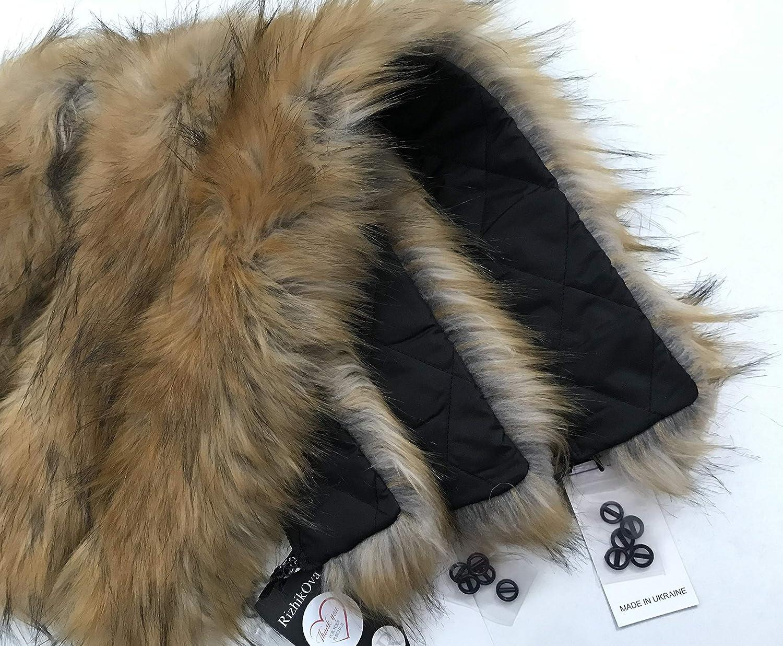 wholesale Collar Faux Fur red fox for hood 70 coat parka overseas cm