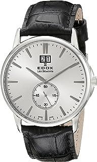 EDOX - Reloj Analógico para Unisex de Cuarzo con Correa en Cuero 64012 3 AIN