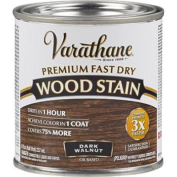 Varathane 262025 Premium Fast Dry Wood Stain, 1/2 Pint, Dark Walnut