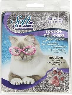 Feline Soft Claw Nail Caps, Medium, Pink Sparkle