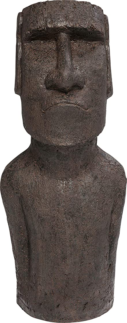 Statua isola di pasqua Oggetto decorativo easter island, grigio., 80 cm kare design 66010
