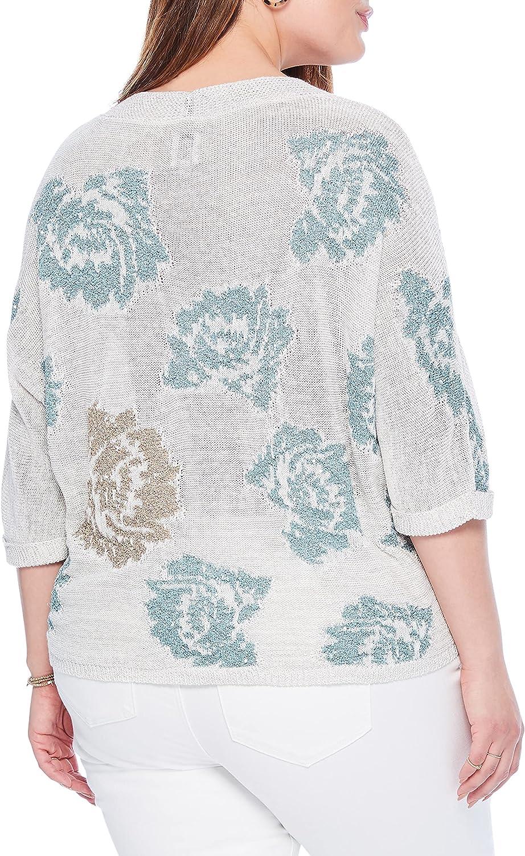 NIC+ZOE Women's Shimmer Bloom Sweater